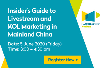 Supporting Event - MarketingPulse Webinar - Insider's Guide to Livestream and KOL Marketing in Mainland China